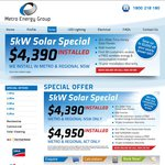 5kw Solar Power System $4950 Installed All over ACT - Metro Energy Group