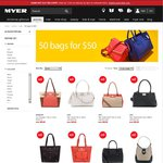 Myer - Online Only - 50 Bags at $50 Each - ends Monday 11.59pm AEDT