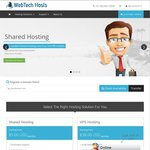 50% off First Month on Shared Hosting Plans - First 100 @ Web Tech Hosts
