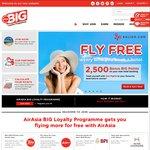 AirAsia BIG Shot Members ZERO POINTS Fares + Taxes (Eg SIN to BKK $63 Return)