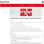 Complimentary Qantas Frequent Flyer Membership