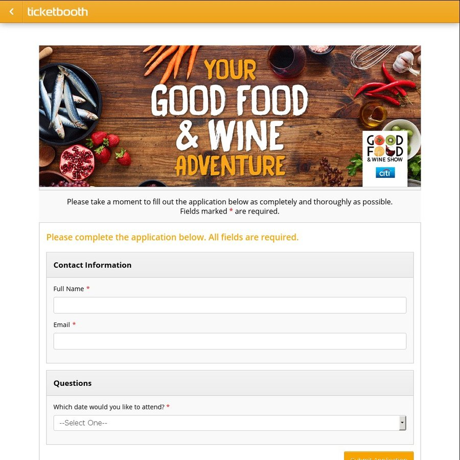 Good Food And Wine Show Free Tickets  Melbourne
