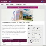 Qatar Airways - Fly to Pisa from $1,330* in Return Economy Class ex Perth
