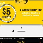 $5 Burrito (Worth $11.50) via Guzman Y Gomez App