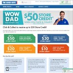 Get up to $50 Store Credit When You Click & Collect @ The Good Guys Online