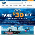 BCF $30 off When You Spend $100+ Online