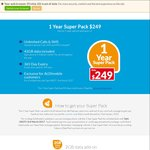 ALDImobile - 1 Year Prepaid Super Pack $249 (Unlimited Calls, SMS, MMS, 42GB Data) - Existing Customers