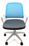 Office Chair - $99 - Free 2nd Day Delivery to Sydney Suburbs- Sleek Design, Foldable Armrests, White Frame, Mesh Back @ Qurio