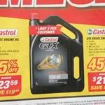 Castrol 5L 10W-40 $23.59, GTX 5L 15W-40 $21.39, Shelf $9.99, Paint 4/$10, Stanley Kit $179, Meguiar's Wash $18 @ Supercheap Auto
