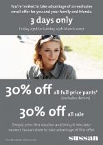 Sussan 30% off special~