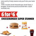 [SA] 6 for $6 Cheeseburger Super Stunner Meal @ Hungry Jack's