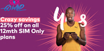 Optus SIM Only Plans - $30/Month for 15GB Data + More (12 Month Contract)