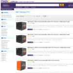 AMD 1950x - $1149, 1920x - $949, 1900x - $609, 1800x - $449, + More @ Mwave