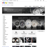 Creation Watches 8% off Sale on eBay, Stacks with Code PULL5