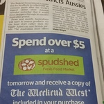 [WA] Spend over $5 @ Spudshed Get Weekend West Newspaper Free (Save $3.70)