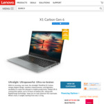"Lenovo X1 Carbon G6 / 14"" FHD / i7-8550U / 256GB SSD / 8GB RAM / $2055 Shipped ($1905 with AmEx Offer)"