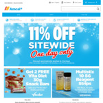 Amcal 11% off Sitewide (Ends Midnight)