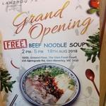 [VIC] Free Beef Noodle Soup @ Lanzhou Glen, Waverley