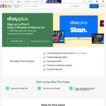 $20 Gift Card When You Join eBay Plus ($49) + Free 3 Months Stan (New & Existing Members)