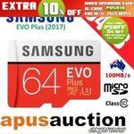 Samsung 64GB EVO+ Micro SD Card $17.18 Delivered @ ApusAuction eBay