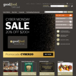 20% off Good Food Gift Card (Minimum Spend $200) (Physical & Digital, Excludes Postage) @ Good Food