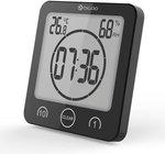 Digoo Digital LCD Waterproof Suction Cups Indoor Humidity Thermometer Alarm Clock US $5.49 (~AU $7.72) Delivered @ Banggood
