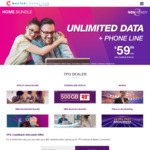 TPG ADSL2+ Bundle $59.99/Month (Unlimited Data, 18 Month Contract, Free Wi-Fi Modem) & $50 Cashback @ Master Connection