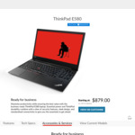 "ThinkPad E580 15.6"" FHD, Quad Core Intel i5-8250U, 8GB RAM, 256GB SSD, Integrated Graphics $879 (Was $1,599) @ Lenovo"