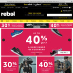 Up to 40% off Range of Footwear, 30% off Bikes, Further Markdown on Clothing @ rebel