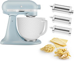 KitchenAid KSM180 Misty Blue Retro Stand Mixer with Pasta Set $999 (Bonus $200 PoK Gift Card) + Delivery @ Peter's of Kensington