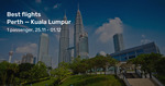 Perth to Kuala Lumpur Direct from $208 Return on Malindo Air (Nov-Dec) @ BeatThatFlight