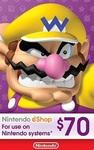 Nintendo $70 USD eShop Digital Cards US $62.98 (~AUD $91.32) @ LVLGO [US Acounts]
