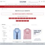5 Shirts Delivered for $170 or 15% off Everything with $200 Spend @ T.M.Lewin