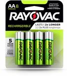 [Amazon Prime] RAYOVAC AA 8-Pack RECHARGEABLE Batteries $5.38 Delivered @ Amazon US via AU