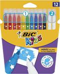 BIC Kids Magic Erase Markers 12pk $2.25 (Was $4.50) + Delivery (Free with Prime / $49 Spend) @ Amazon Australia