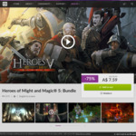 [PC] DRM-free - Heroes of Might and Magic V Bundle 75% off, $7.59 AUD @ GOG