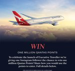 Win 1,000,000 Qantas Points Worth Over $30,000 from Executive Traveller [QFF Members]