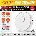 Xiaomi Roborock S50 Robot Vacuum (AU Version) $503.20 Delivered @ Flora Livings eBay