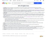 10% off Eligible Items (Min Spend $100) @ eBay Australia
