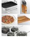 Stanley Rogers Cookset/Knife Block/Roaster/Chopping Board & Pizza Stone - $208.95 Delivered @HS