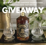 Win a Bottle of Corowa Characters + Personalised Tasting Kit from The Whisky List