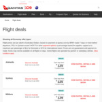 Sydney to Gold Coast $115, Melbourne $125, Perth $245 | Melbourne to Adelaide/Sydney $125 One Way @ Qantas