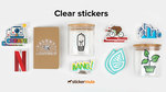 """50 x 3"""" Circle Clear Stickers - $39.35 (Was $101) Delivered @ Sticker Mule"""