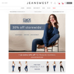 Jeanswest 30% off (40% for Members)