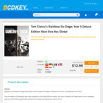 [XB1] Tom Clancy's Rainbow Six Siege: Year 5 Deluxe Edition $12.99 (~AUD $19.90) @ Bcdkey