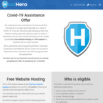 Free Web Hosting for 12 Month - Covid19 Assistance @ Host Hero (No CC Req.)