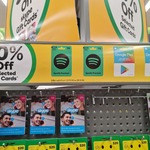 10% off Google Play & Spotify Premium Gift Cards @ Woolworths
