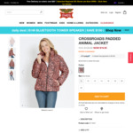 Women's Print Padded Jacket $19.95 (Was $109.99) + $8.80 Delivery / Free with $80 @ Rivers