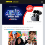 Win a Pair of Audio-Technica ATH-ANC300TW NC Headphones from STACK