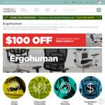 $100 off Ergohuman Chairs: Ergohuman V3 $529, Ergohuman Fit $549 + Freight @ Temple and Webster